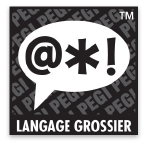 Logo du classement PEGI comportant l'expression: langage grossier