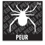 Logo du classement PEGI comportant le mot: peur