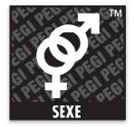 Logo du classement PEGI comportant le mot: sexe