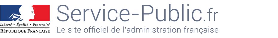 Autocollant personnalisé sur sa plaque d'immatriculation Logo-service-public