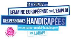 Logo de la semaine européenne pour l'emploi des personnes handicapées du 14 au 20 novembre 2016