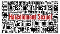 Nuages mots sur le harcèlement sexuel