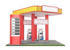 Station-service et pompes à essence