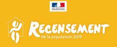 Logo du recensement 2019 de l'Insee