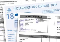 Bulletin de paie de janvier 2019 et déclaration des revenus 2018
